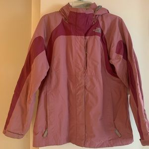 The North Face two tone pink jacket